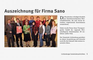 SANO ist engagiert und Vorzeigebetrieb in der regionalen Unternehmerschaft.