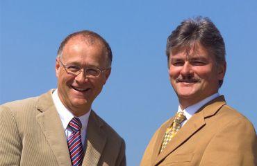 Gemeinsame Arbeit für SANO Transportgeräte international - Jochum Bierma und Manfred Winkler