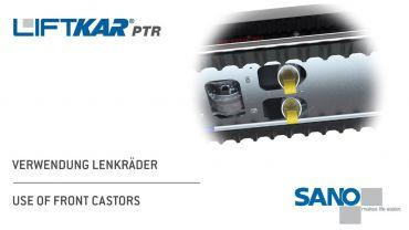 LIFTKAR PTR Treppenraupe - Verwendung Lenkräder