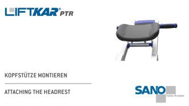 LIFTKAR PTR Treppenraupe - Kopfstütze montieren